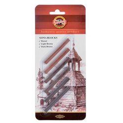 Koh-I-Noor, Zestaw sztyftów w odcieniach sepii, 6 szt. - produkt dostępny w Smyk