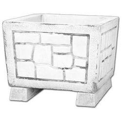 Donica - Wazon z kamienia - kwadratowy 48x60x60