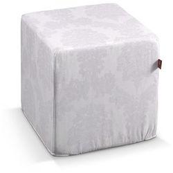 Dekoria  pufa kostka twarda, biały, 40x40x40 cm, damasco