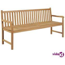 vidaXL Ławka ogrodowa, 180 cm, lite drewno tekowe (8718475713944)