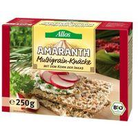 250g pieczywo chrupkie amarantusowe wielozbożowe bio marki Allos