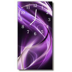Zegar Szklany Pionowy Natura Fale abstrakcja purpurowy