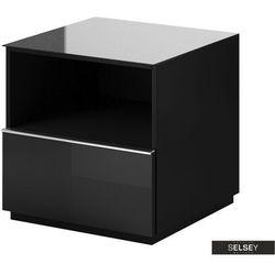 SELSEY Szafka RTV Monterry 50 cm z szufladą czarna