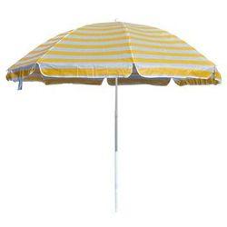 Happy Green Parasol plażowy żółte paski, 230 cm, 676546