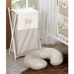 kosz na bieliznę wesołe zajączki w brązie marki Mamo-tato