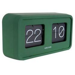 Karlsson:: Zegar klapkowy Flip Bold zielony - zielony