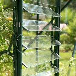 Vitavia Okno żaluzjowe zielone do wszystkich szklarni