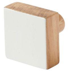 Wieszaczek drewniany GoodHome Nantua biały