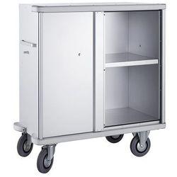 Zarges Aluminiowy wózek szafkowy, poj. 640 l, 1 półka dodatkowa. rama ekranująca dookoł