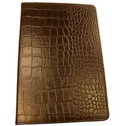 Podręczny Wizytownik na 120 Wizytówek wykonany ze skóry naturalnej o fakturze imitującej skórę krokodyla