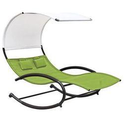 Dwuosobowy fotel bujany, zielony chaiserk2 marki La siesta