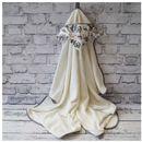 Bambusowy ręcznik z kapturkiem, boho wilk / ecru 65x130 cm, marki Camphora studio