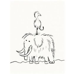 Kids concept neo plakat mamut