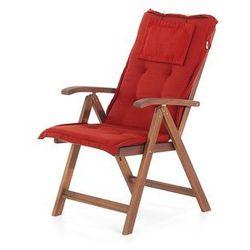 Beliani 19 części - meble ogrodowe - lite drewno ceglaste poduszki toscana