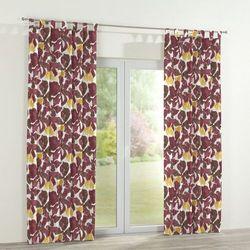 Dekoria Zasłona na szelkach 1 szt., żółto-brązowe kwiaty, 1szt 130x260 cm, Wyprzedaż do -30%