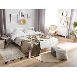 Łóżko drewniane 160 x 200 cm białe vannes marki Beliani