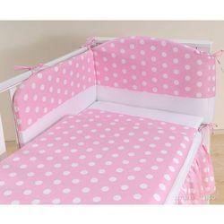 MAMO-TATO pościel 3-el Groszki różowe do łóżeczka 60x120cm z kategorii Komplety pościeli dla dzieci