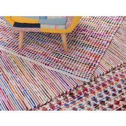 Beliani Dywan wielokolorowo-biały bawełniany 140x200 cm bartin