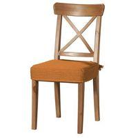 Dekoria Siedzisko na krzesło Ingolf, pomarańczowy szenil, krzesło Inglof, Living