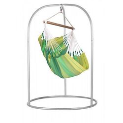 Zestaw hamakowy: fotel hamakowy orquidea ze stojakiem romano, zielony orc14roa168 marki La siesta