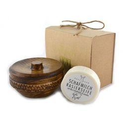 Margo Zestaw prezentowy mydło z lanoliną w drewnianym tygielku, kategoria: zestawy do golenia