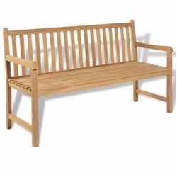 Drewniana ławka ogrodowa tanas 2x - brązowa marki Producent: elior