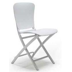 Składane krzesło ogrodowe Nardi Zic Zac białe