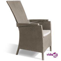 Allibert Wypoczynkowe krzesło ogrodowe Vermont, cappuccino, 238449