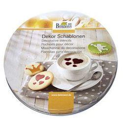 Szablony do dekoracji ciasteczek i kawy Forever 6 szt. Birkmann