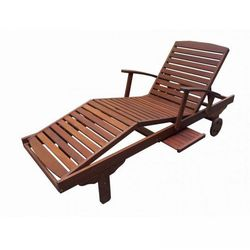 Drewniany leżak ogrodowy ERA