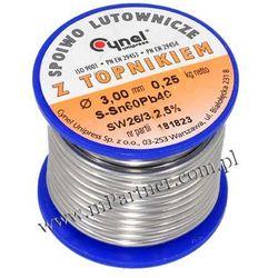 Cyna 3,0mm 0,25kg z topnikiem Cynel Sn60Pb40 ()
