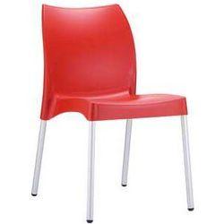 Krzesło ogrodowe do restauracji tworzywo Vita czerwone, towar z kategorii: Krzesła ogrodowe