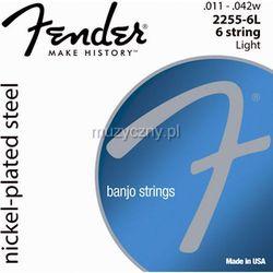 Fender 2255-6L Banjo Light 6 struny do banjo 011-042 - produkt z kategorii- Pozostała muzyka