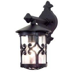 Zewnętrzna LAMPA ścienna HEREFORD BL8 Elstead klasyczny KINKIET metalowa OPRAWA ogrodowa IP23 outdoor czarna