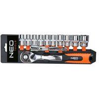 Neo Zestaw kluczy nasadowych  08-653 3/8 cala (12 elementów) + darmowy transport!