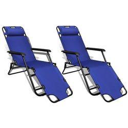 Vidaxl regulowane, składane leżaki z podnóżkami, 2 szt. (8718475905943)
