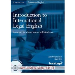 Introduction to International Legal English Student's Book with Audio CD with Polish Glossary Cambridge (iloś