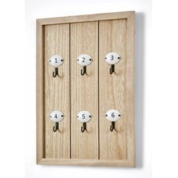 Wieszak na klucze z haczykami z numerami naturalny marki Bonprix