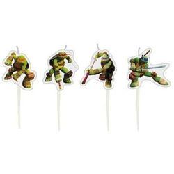 Amscan Świeczki pikery wojownicze żółwie ninja - 4 szt.