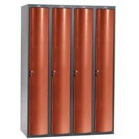 Szafa do przebieralni 4x1 schowek w pionie Kolor drzw: Czerwony metalizow