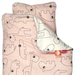 Pościel dla dzieci contour (200x140 + 60x63) - różowa marki Done by deer