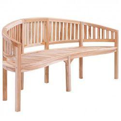 Drewniana ławka ogrodowa ollen - brązowa marki Producent: elior