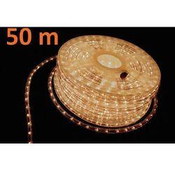 Wąż świetlny ogrodowy 50 m ciepły biały - 1800 mini żarówek