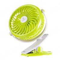 REMAX bezprzewodowy wentylator wiatrak z klipsem na biurko zielony - Zielony (7426793405939)