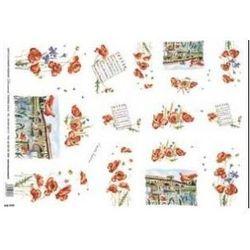 Papier ryżowy Decomania 35x50cm - MAKI I MOSTY, towar z kategorii: Papier i tkaniny do decoupage