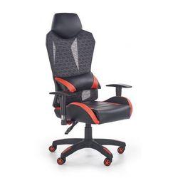 Fotel gabinetowy Nikos - czarno - czerwony, V-CH-DOMEN-FOT