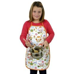 Bellatex Fartuch kuchenny dziecięcy Sówki kolorowe, 42 x 55 z kategorii Fartuchy kuchenne