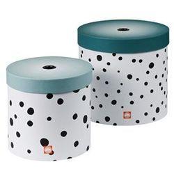- pudełka okrągłe dots 2szt. - niebieskie wyprodukowany przez Done by deer