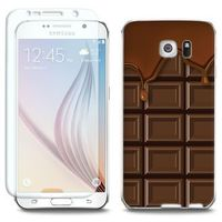 Full Body Slim Fantastic - Samsung Galaxy S6 Edge - etui na telefon Full Body Slim Fantastic - tabliczka czeko