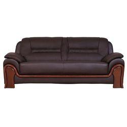 Sofa 3-osobowa PALLADIO brązowy, kolor brązowy
